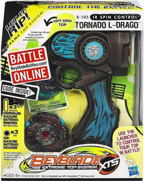 Beyblade XTS IR Spin Control Tornado L-Drago Single Pack X-105