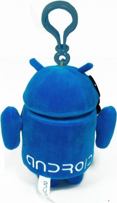 Android Blue Guy Plush Backpack Clip