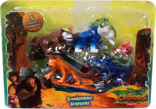 Fisher Price The Croods Croodaceous Creatures Figure 5-Pack