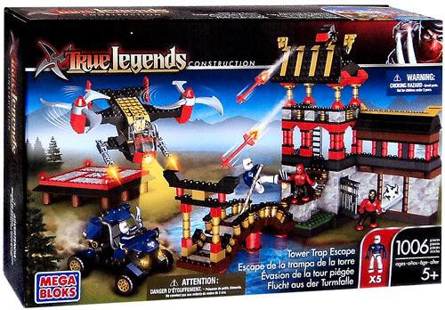 Mega Bloks True Legends Construction Tower Trap Escape Set