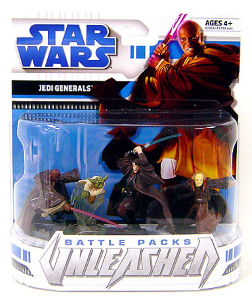 Star Wars Revenge of the Sith Unleashed Battle Packs 2008 Jedi Generals Action Figure 4-Pack