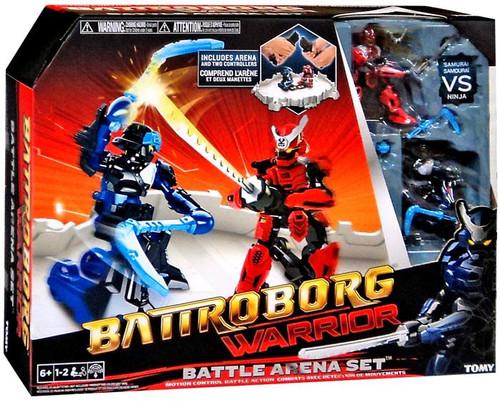 Battroborg Batroborg Warrior Samurai vs Ninja Battle Arena Set
