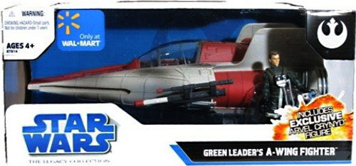 Star Wars Return of the Jedi Vehicles 2008 Legacy Collection Green Leader's A-Wing Fighter Exclusive Action Figure Vehicle