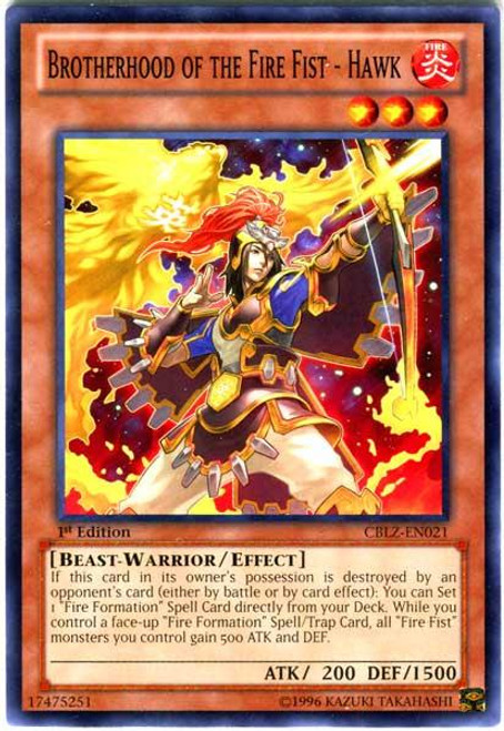 YuGiOh Zexal Cosmo Blazer Common Brotherhood of the Fire Fist - Hawk CBLZ-EN021
