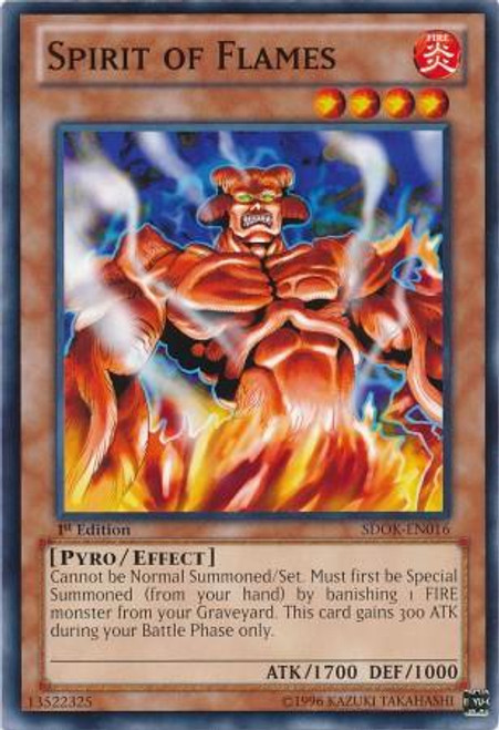 YuGiOh Structure Deck: Onslaught of the Fire Kings Common Spirit of Flames SDOK-EN016