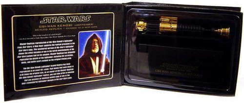 Star Wars A New Hope .45 Scale Minis Obi-Wan Kenobi Lightsaber [Gold Variant]