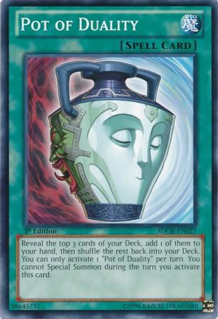 YuGiOh Structure Deck: Onslaught of the Fire Kings Common Pot of Duality SDOK-EN027