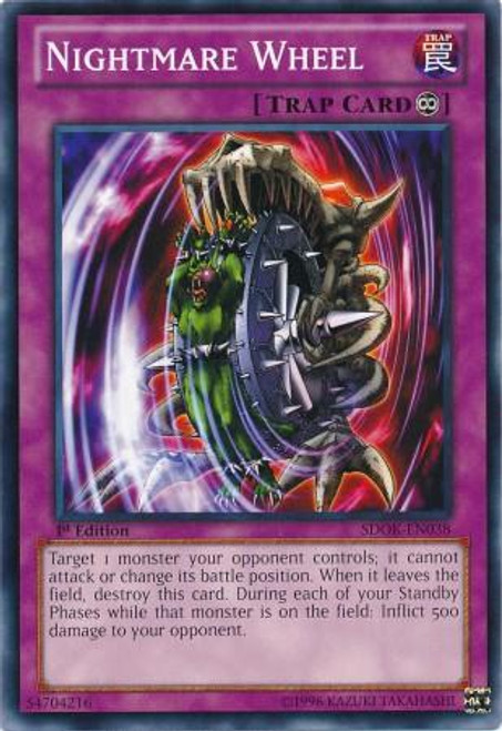 YuGiOh Structure Deck: Onslaught of the Fire Kings Common Nightmare Wheel SDOK-EN038