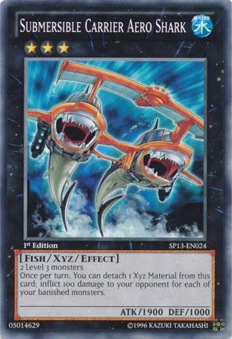 YuGiOh Star Pack 2013 Common Submersible Carrier Aero Shark SP13-EN024