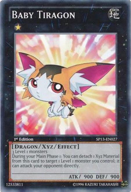 YuGiOh Star Pack 2013 Common Baby Tiragon SP13-EN027