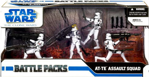 Star Wars The Clone Wars Battle Packs 2009 AT-TE Assault Squad Action Figure Set