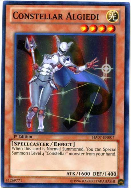 YuGiOh Zexal Hidden Arsenal 7: Knight of Stars Super Rare Constellar Algiedi HA07-EN007