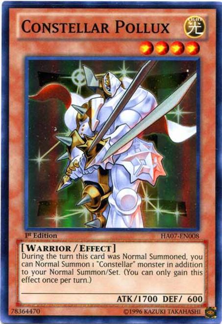 YuGiOh Zexal Hidden Arsenal 7: Knight of Stars Super Rare Constellar Pollux HA07-EN008