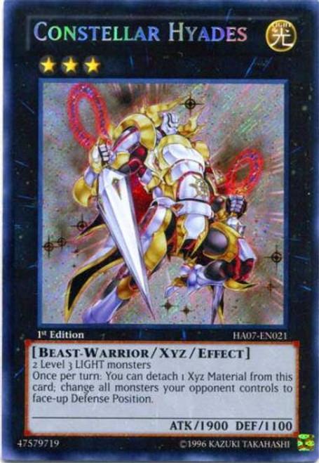 YuGiOh Zexal Hidden Arsenal 7: Knight of Stars Secret Rare Constellar Hyades HA07-EN021