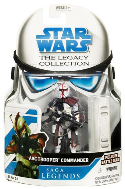 Star Wars The Clone Wars Legacy Collection 2008 Saga Legends ARC Trooper Commander Action Figure SL23