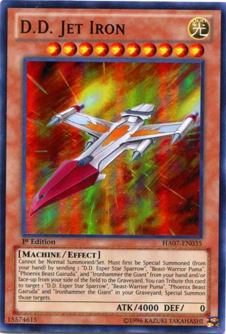YuGiOh Zexal Hidden Arsenal 7: Knight of Stars Super Rare D.D. Jet Iron HA07-EN035