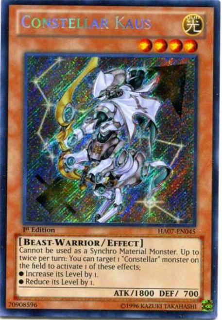 YuGiOh Zexal Hidden Arsenal 7: Knight of Stars Secret Rare Constellar Kaus HA07-EN045