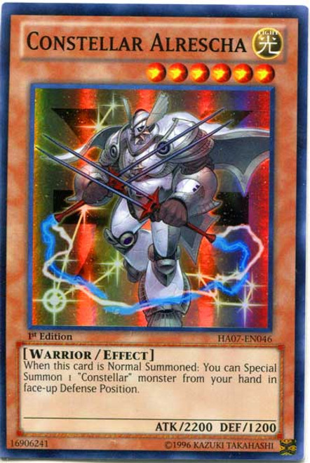 YuGiOh Zexal Hidden Arsenal 7: Knight of Stars Super Rare Constellar Alrescha HA07-EN046