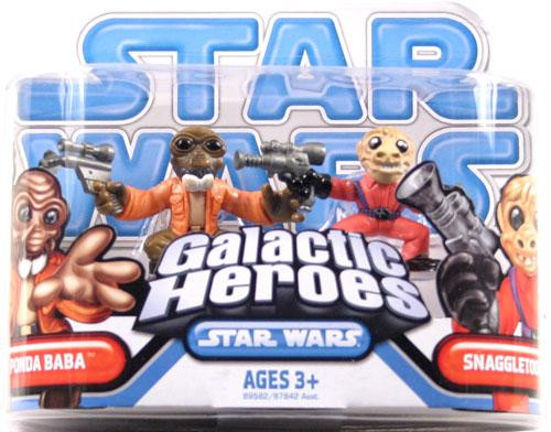 Star Wars A New Hope Galactic Heroes 2009 Ponda Boba & Snagletooth Mini Figure 2-Pack