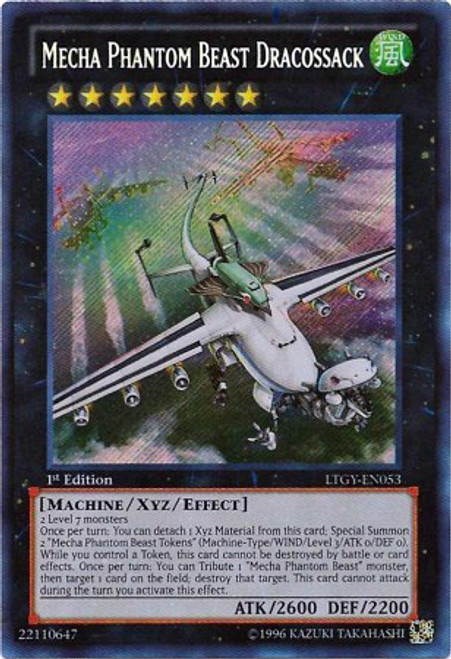 YuGiOh Zexal Lord of the Tachyon Galaxy Secret Rare Mecha Phantom Beast Dracossack LTGY-EN053