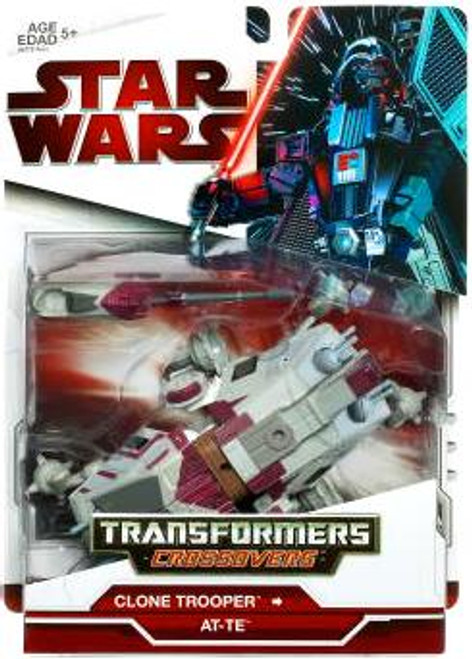 Star Wars The Clone Wars Transformers Crossovers 2009 Clone Trooper Driver to AT-TE Action Figure