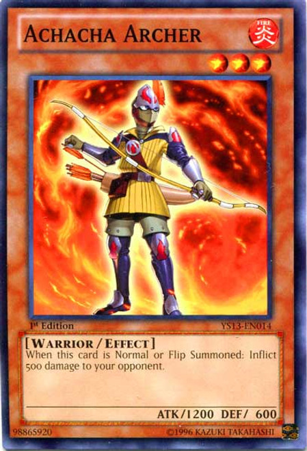 YuGiOh 2013 Super Starter: V for Victory Common Achacha Archer YS13-EN014