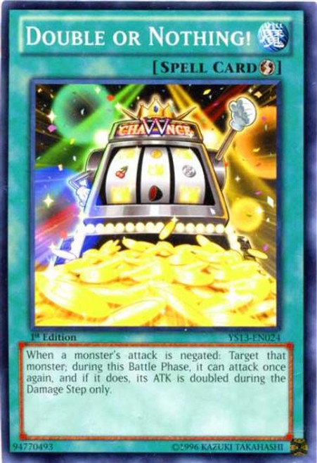 YuGiOh 2013 Super Starter: V for Victory Common Double or Nothing YS13-EN024