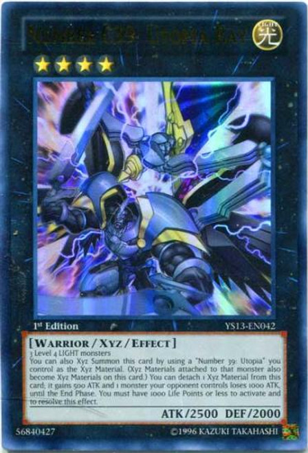 YuGiOh 2013 Super Starter: V for Victory Ultra Rare Number C39: Utopia Ray YS13-EN042