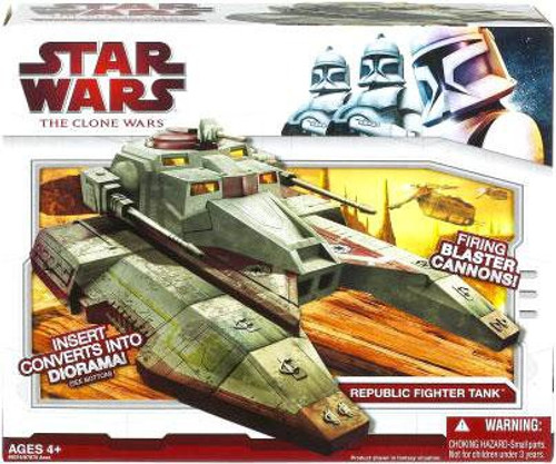 Star Wars The Clone Wars Vehicles 2009 Republic Fighter Tank Action Figure Vehicle [Saber]