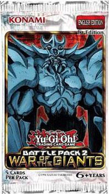 YuGiOh Battle Pack 2: War of the Giants (1st Edition) Booster Pack [Sealed]