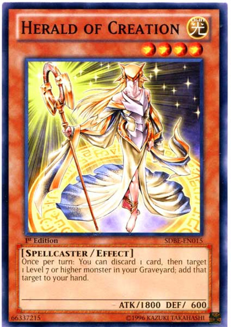 YuGiOh Saga of Blue-Eyes White Dragon Structure Deck Common Herald of Creation SDBE-EN015