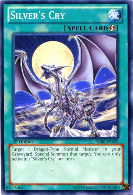 YuGiOh Saga of Blue-Eyes White Dragon Structure Deck Common Silver's Cry SDBE-EN020