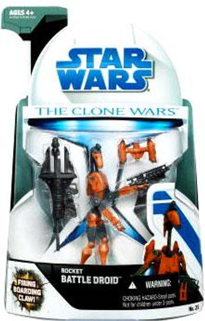 Star Wars The Clone Wars Clone Wars 2008 Rocket Battle Droid Action Figure #25