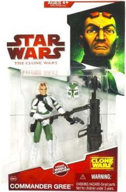 Star Wars The Clone Wars Clone Wars 2009 Commander Gree Action Figure CW09