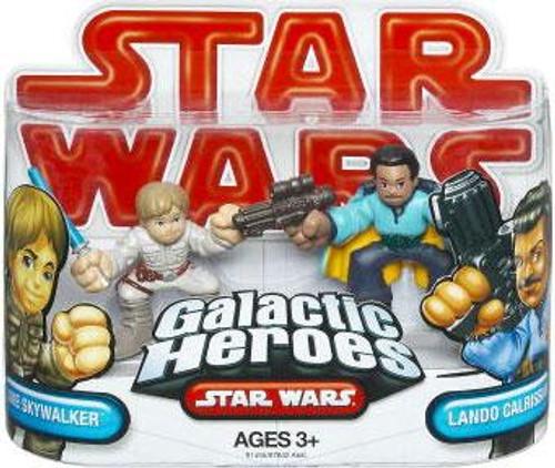Star Wars The Empire Strikes Back Galactic Heroes 2009 Lando Calrissian & Luke Skywalker Mini Figure 2-Pack