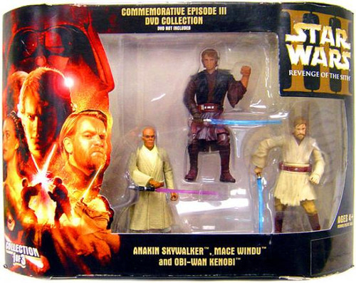 Star Wars Revenge of the Sith DVD Collections Commemorative Episode III DVD Collection Action Figure Set #1 of 3 [Jedi]