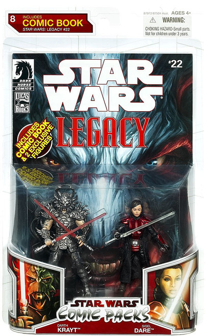 Star Wars Expanded Universe Comic Packs 2009 Darth Krayt & Imperial Knight Sigel Dare Action Figure 2-Pack