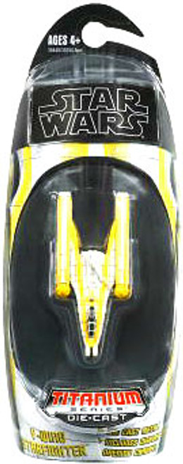 Star Wars The Clone Wars Titanium Series 2009 Y-Wing Starfighter Diecast Vehicle