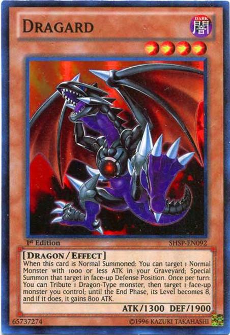 YuGiOh Zexal Shadow Specters Super Rare Dragard SHSP-EN092