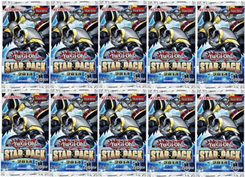 YuGiOh Star Pack 2014 Lot of 10 Booster Packs [Sealed]