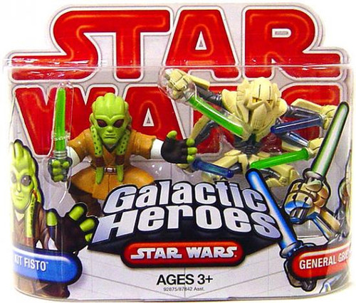 Star Wars Revenge of the Sith Galactic Heroes 2009 Kit Fisto & General Grievous Mini Figure 2-Pack