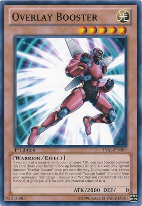 YuGiOh Zexal Legacy of the Valiant Common Overlay Booster LVAL-EN006