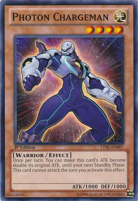 YuGiOh Zexal Legacy of the Valiant Common Photon Chargeman LVAL-EN007