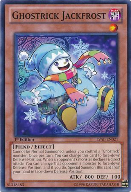 YuGiOh Zexal Legacy of the Valiant Common Ghostrick Jackfrost LVAL-EN021