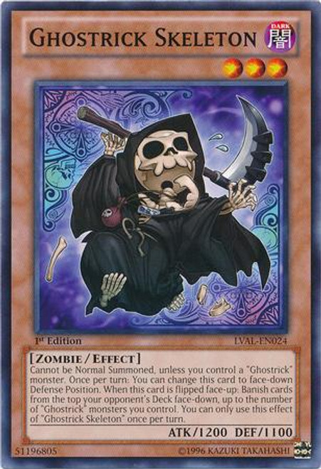 YuGiOh Zexal Legacy of the Valiant Common Ghostrick Skeleton LVAL-EN024