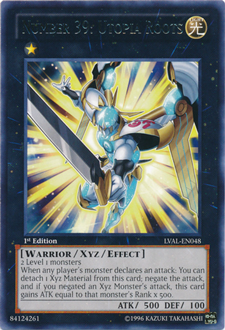 YuGiOh Zexal Legacy of the Valiant Rare Number 39: Utopia Roots LVAL-EN048