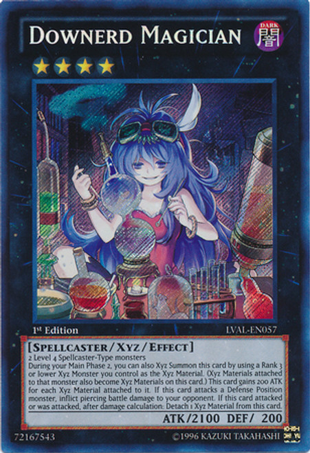 YuGiOh Zexal Legacy of the Valiant Secret Rare Downerd Magician LVAL-EN057