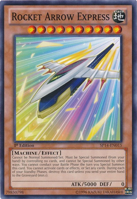 YuGiOh Zexal Star Pack 2014 Common Rocket Arrow Express SP14-EN015