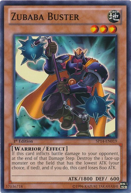 YuGiOh Zexal Star Pack 2014 Common Zubaba Buster SP14-EN019