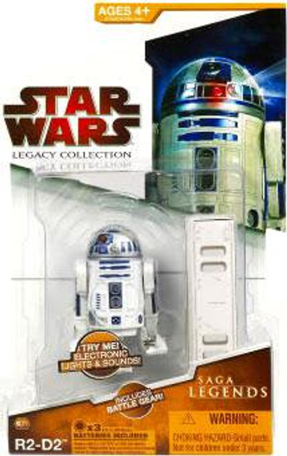 Star Wars Revenge of the Sith Legacy Collection 2009 Saga Legends R2-D2 Action Figure SL01